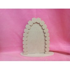 Plain Fairy door with flower arch